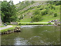 SK1551 : River Dove - Upstream View from Stepping Stones by Alan Heardman