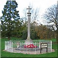 TL7322 : Rayne - War Memorial, Remembrance Sunday 2005 by Trevor Wright