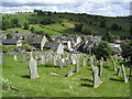 SK2354 : Brassington - St.James Churchyard view from Hillside Lane : Week 27