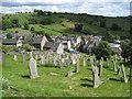 SK2354 : Brassington - St.James Churchyard view from Hillside Lane by Alan Heardman