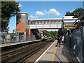 TQ5874 : Greenhithe station: ... and in with the new by Stephen Craven