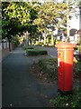 SZ1193 : Littledown: postbox № BH7 244, Littledown Avenue by Chris Downer