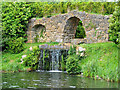 SP6736 : Cascade and Artificial Ruins, Stowe by Dr Richard Murray
