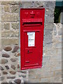 TL3753 : VR post box in High Street, Little Eversden by Keith Edkins
