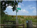 SK3299 : Footpath signs by Wendy North