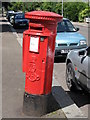 TQ3572 : Edward VII postbox, Inglemere Road / Bampton Road, SE23 by Mike Quinn