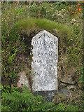 SW7034 : Milestone on the road between Penmarth & Halwyn by Rod Allday