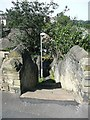 SE1422 : Steps from East Street down to Bridge End, Rastrick by Humphrey Bolton