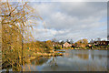SJ5798 : Crompton's Pond by Dave Green