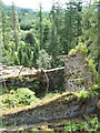 NS1385 : Looking down on the ruined Victorian Fernery by Lairich Rig