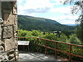 NS1385 : The viewpoint in Benmore Botanic Garden by Lairich Rig
