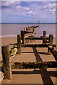 TG2441 : Groyne, Overstrand beach by Ian Capper