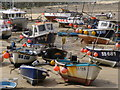 SW5240 : Boats at low tide, St Ives harbour : Week 33