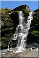 SX0589 : Twin cascade at Tintagel Haven by Jim Champion