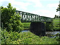 NS7852 : Footbridge over the River Clyde by Lairich Rig