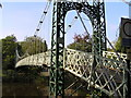 SJ4812 : River Severn, Porthill footbridge by kevin skidmore