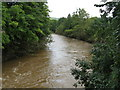 SO7262 : River Teme downstream from New Mill Bridge by Peter Whatley