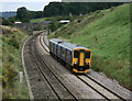 ST7165 : 2008 : A local train on the line west from Bath by Maurice Pullin