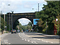 SE1538 : Railway bridge over Otley Road by Stephen Craven