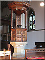 TQ3368 : Pulpit of Holy Innocents church by Stephen Craven