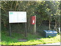 ST7909 : Belchalwell: postbox № DT11 165 and noticeboard by Chris Downer