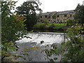 SK2472 : Bubnell - River Derwent and Weir by Alan Heardman