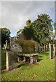 NT1136 : Broughton Old Parish Church by Walter Baxter