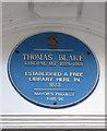 Photo of Thomas Blake blue plaque