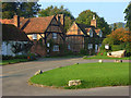 SU7691 : Cottages and green, Turville by Andrew Smith