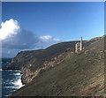 SW6949 : Cliffs below Wheal Coates by Trevor Rickard