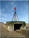 TQ7306 : Beacon on Bexhill Beach by Oast House Archive