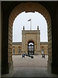 SP4416 : Archway on the east side of the Great Court, Blenheim Palace by Robin Drayton