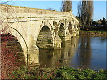SJ5409 : River Severn, Atcham old road bridge by kevin skidmore