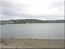 SH5873 : The Bangor shore from the beach west of the Garth jetty by Eric Jones