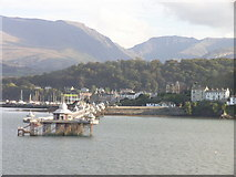 SH5873 : Bangor Pier with the Glyders and Nant Ffrancon Pass in distance by Richard Johnson