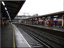 TQ2775 : Platform 13, Clapham Junction by Julian P Guffogg