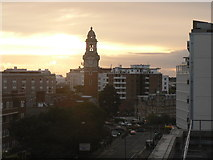 SZ0991 : Bournemouth: sunset over the Lansdowne by Chris Downer