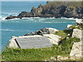 SW9380 : Memorial plaque to Laurence Binyon by Paul Harvey