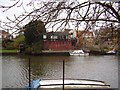 TM4290 : The River Waveney at Beccles and strange house by Ashley Dace