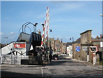 SW6439 : Level crossing at Camborne Station by Rod Allday