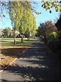 TQ2381 : Footpath, Kensington Memorial Park by Oxyman