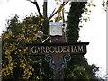 TM0081 : Garboldisham Village Sign by Adrian Cable