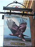 SZ6599 : Pub sign in Talbot Road by Basher Eyre