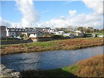 SH3568 : Afon Ffraw from Pont Aberffraw bridge by Eric Jones