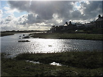 SH3568 : The estuary of Afon Ffraw at Aberffraw by Eric Jones
