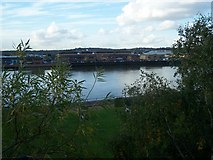 TQ7568 : River Medway from St Mary's Church Chatham by David Anstiss
