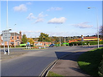 TM3877 : A144 London Road Roundabout by Adrian Cable