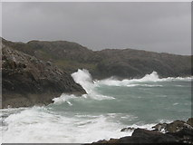 NC0326 : Bay next to Split Rock at Clachtoll on a stormy day by Ulrich Hartmann