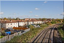 SU4519 : Railway lines approaching Eastleigh Station by Peter Facey