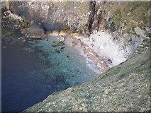 F8043 : Mini beach within small sea inlet / cove by David Precious